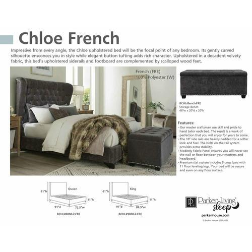 Parker House - CHLOE - FRENCH Storage Bench