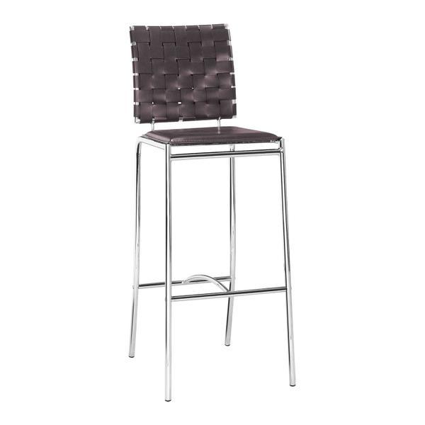 See Details - Criss Cross Bar Chair Espresso