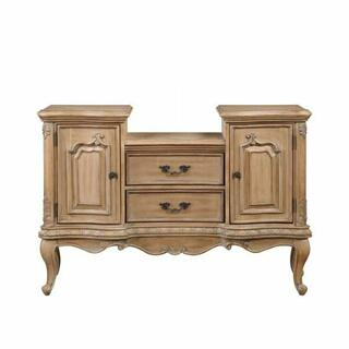 ACME Teagan Server - 63096 - Traditional - Wood (Poplar), Wood Veneer (Pine), Poly-Resin Moldings, MDF - Oak