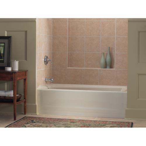 """White 60"""" X 32"""" Alcove Bath With Integral Apron and Left-hand Drain"""