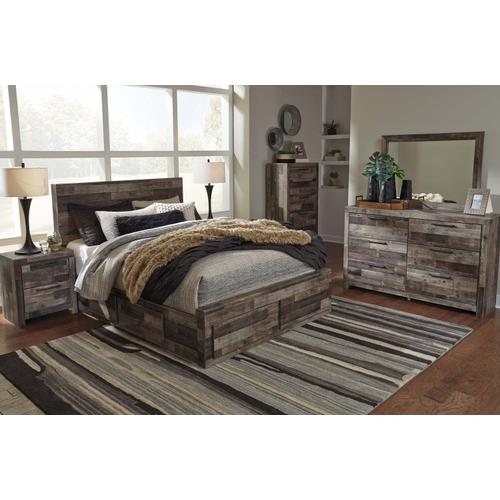 B200 9PC Set: Queen Storage Bed, Dresser, Mirror, Chest, Nightstand (Derekson)