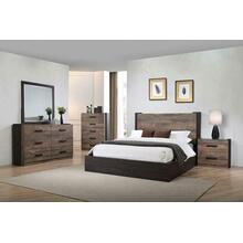 See Details - Weathered Oak and Rustic Coffee Five-piece Queen Bedroom Set