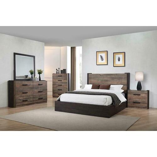 Gallery - Weathered Oak and Rustic Coffee Five-piece Queen Bedroom Set