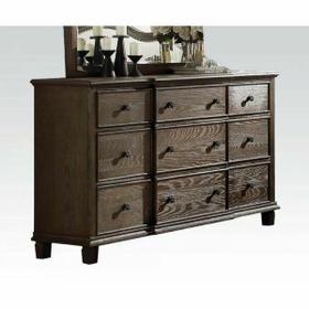 ACME Baudouin Dresser - 26115 - Weathered Oak