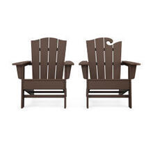 View Product - Wave 2-Piece Adirondack Chair Set with The Crest Chair in Mahogany