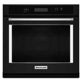 """30"""" Single Wall Oven with Even-Heat™ True Convection Black"""