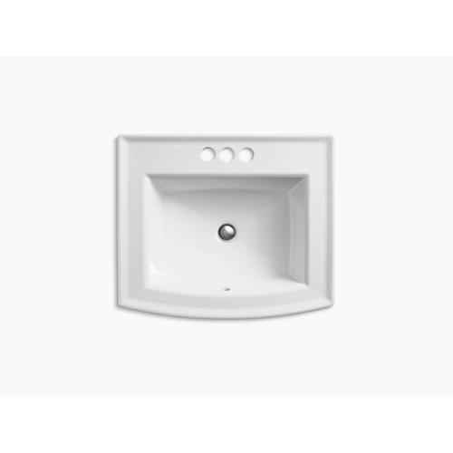 """Ice Grey Drop-in Bathroom Sink With 4"""" Centerset Faucet Holes"""
