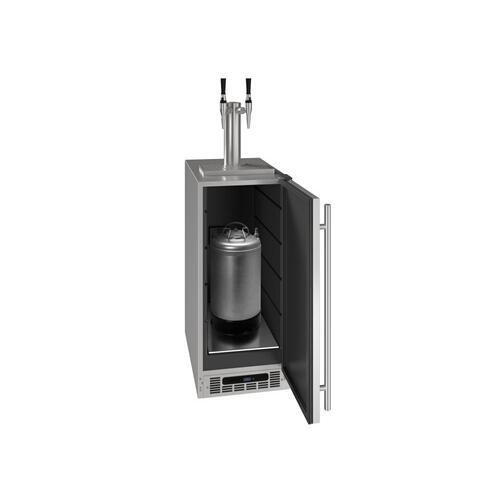 "15"" 2 Tap Nitro Coffee Dispenser With Stainless Solid Finish (115 V/60 Hz Volts /60 Hz Hz)"