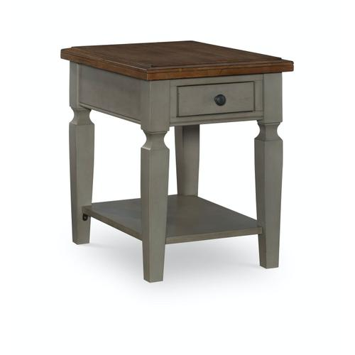 John Thomas Furniture - End Table in Hickory & Stone