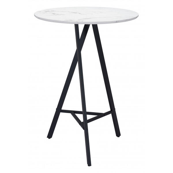 Rouen Bar Table White