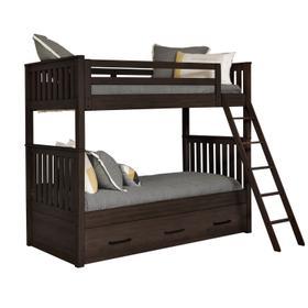 Kids Bunk Bed End in Espresso Brown