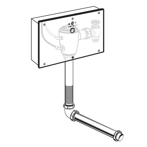 American Standard - Selectronic Concealed Toilet Flush Valve with Wall Box for Wall-Hung Back Spud Bowls - No Finish