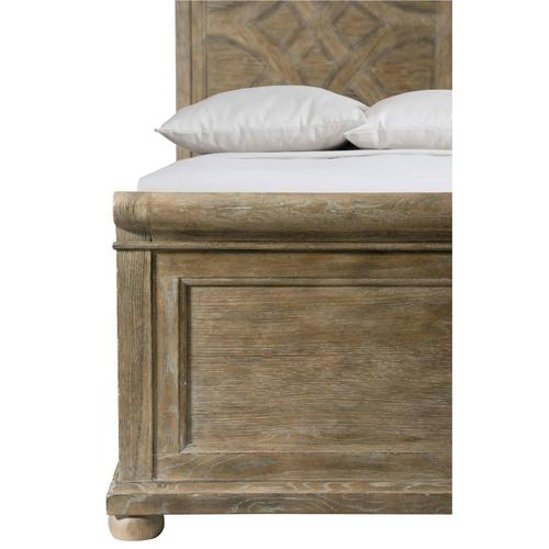 King-Sized Rustic Patina Panel Bed in Peppercorn (387)