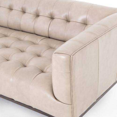 Dusty Stone Cover Marlin Leather Sofa
