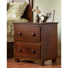 Atlantic 2 Drawer Night Stand in Walnut