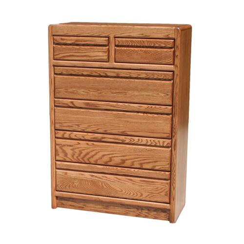 O-C322 Modern Oak 6-Drawer Gentleman's Chest