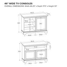 Howard Miller Custom TV Console TS46F