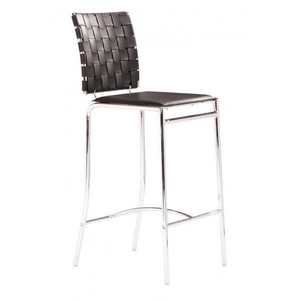 Criss Cross Counter Chair Black