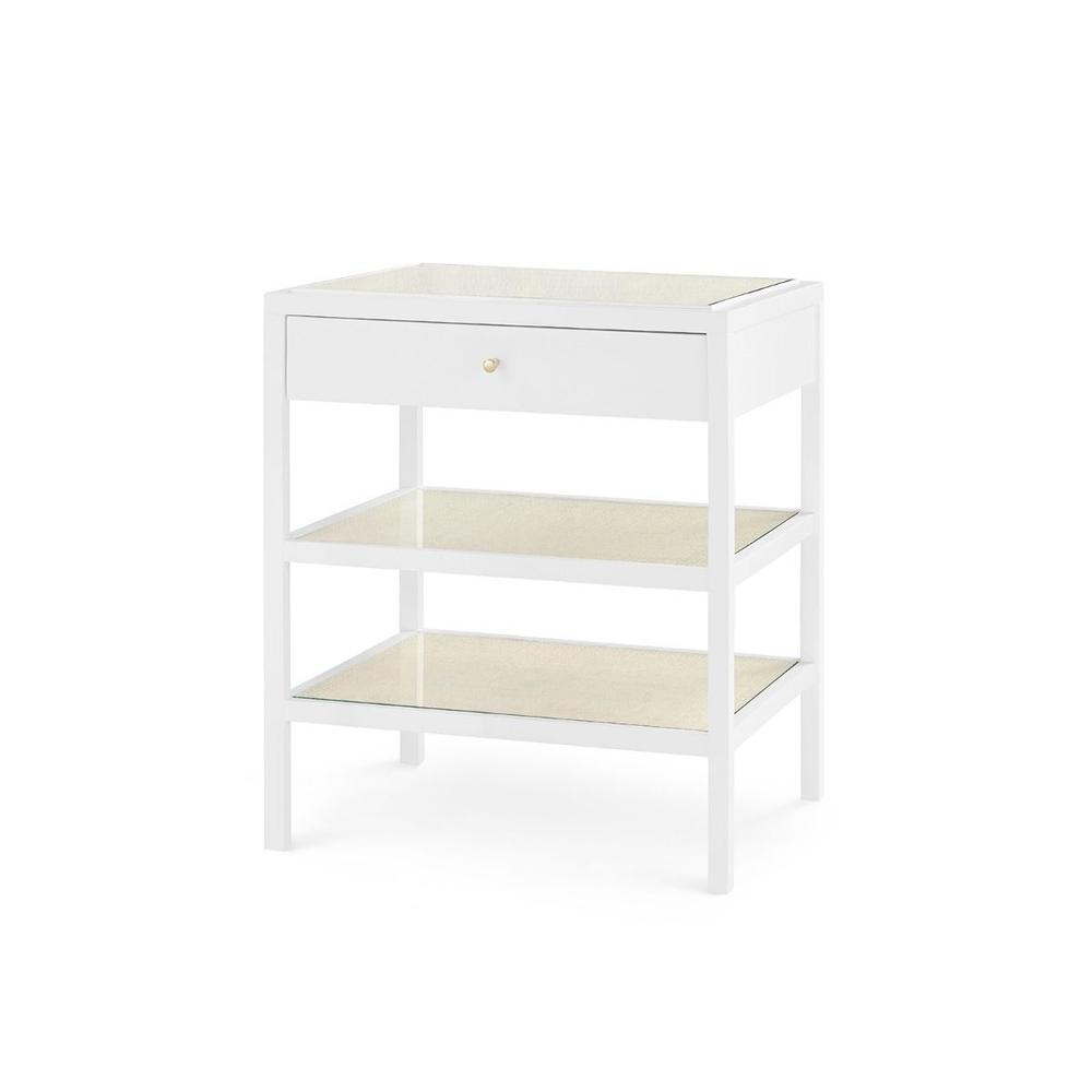 Caanan 1-Drawer Side Table, White