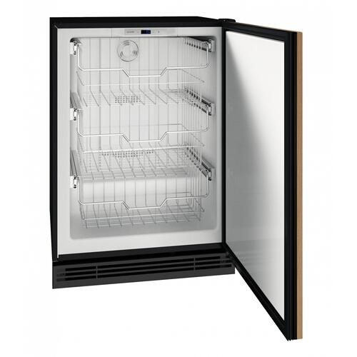 """Product Image - Hfz124 24"""" Convertible Freezer With Integrated Solid Finish (115v/60 Hz Volts /60 Hz Hz)"""