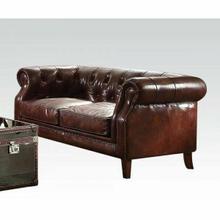ACME Aberdeen Loveseat - 53626 - Vintage Dark Brown Top Grain Leather