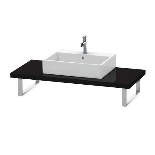 Duravit - Console For Above-counter Basin And Vanity Basin, Black High Gloss (lacquer)