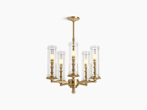 Modern Brushed Gold Five-light Chandelier Product Image