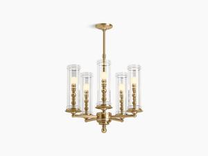 Modern Brushed Gold Five-light Chandelier Product Image