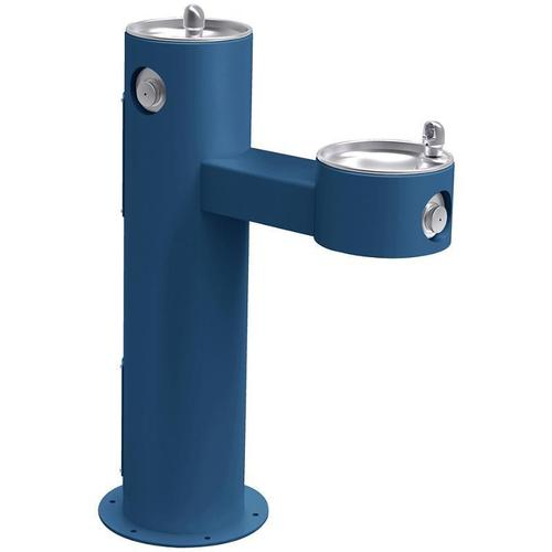 Elkay - Elkay Outdoor Fountain Bi-Level Pedestal Non-Filtered, Non-Refrigerated Blue