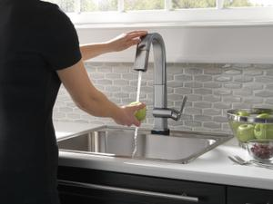 Arctic Stainless Single Handle Pull Down Bar/Prep Faucet With Touch 2 O Technology Product Image
