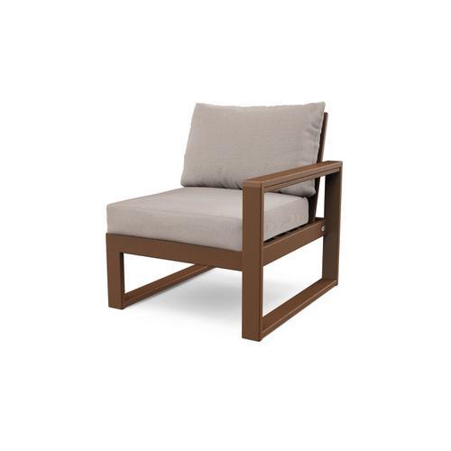 Teak & Dune Burlap EDGE Modular Right Arm Chair