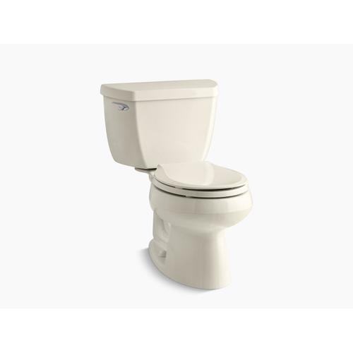 Kohler - Almond Two-piece Round-front 1.28 Gpf Toilet