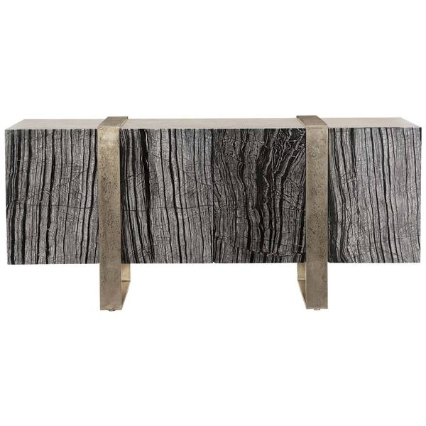 See Details - Linea Entertainment Console in Black Forest Marble (384)