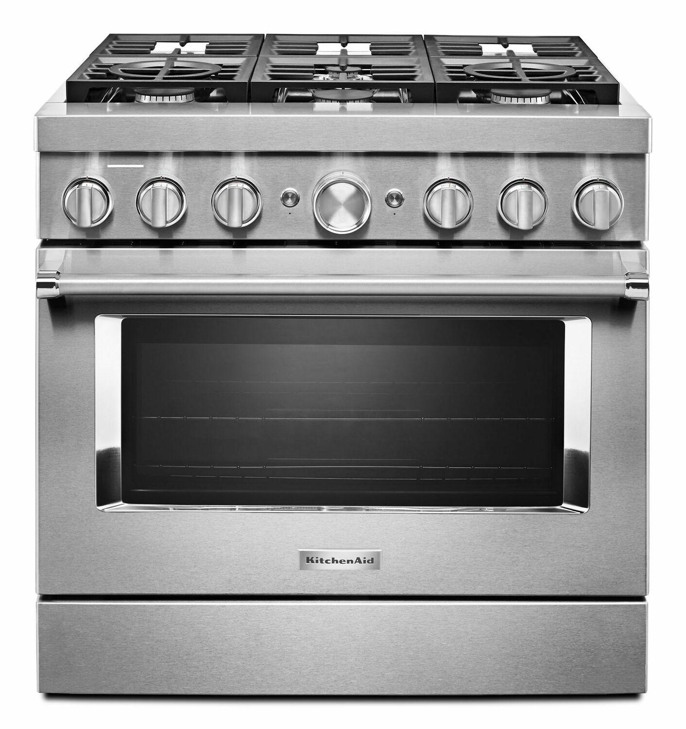 KitchenaidKitchenaid® 36'' Smart Commercial-Style Dual Fuel Range With 6 Burners - Stainless Steel