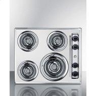 """24"""" Wide 230v 4-burner Coil Cooktop"""