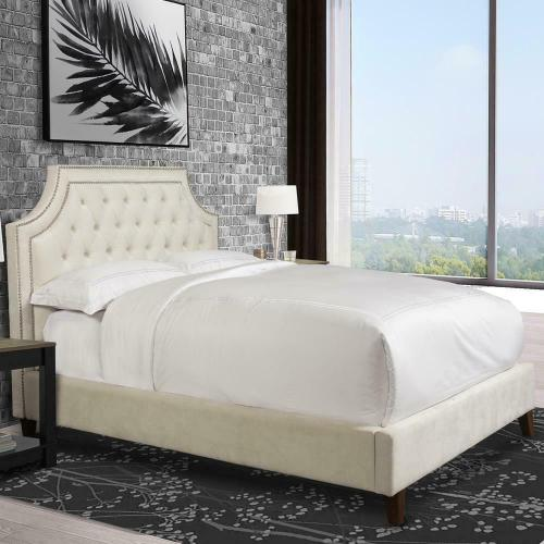 JASMINE - CHAMPAGNE Queen Bed 5/0 (Natural)
