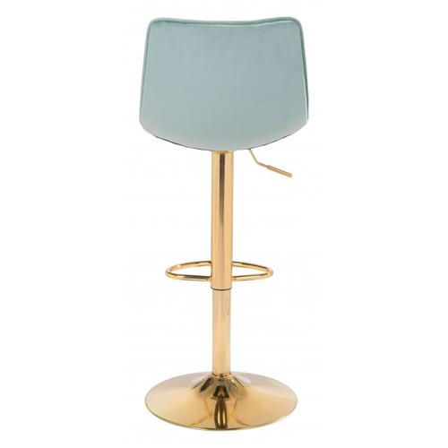 Prima Bar Chair Light Green & Gold