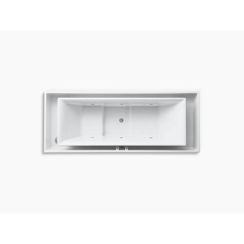 "White 104"" X 41"" Drop-in Effervescence Bath With Chromatherapy and Center Drain"