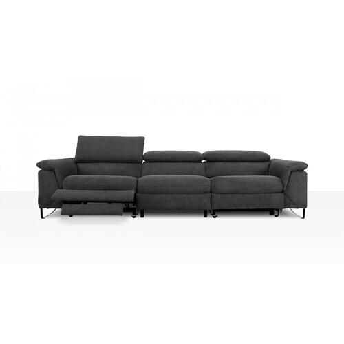 VIG Furniture - Divani Casa Maine - Modern Dark Grey Fabric Sofa w/ Electric Recliners