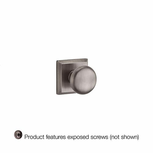 Baldwin - Matte Antique Nickel Round Reserve Knob