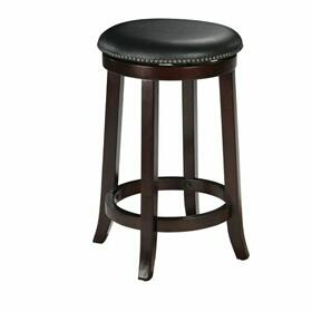 "ACME Chelsea Counter Height Stool w/Swivel (Set-2) - 04732 - PU & Espresso - 24"" Seat Height"