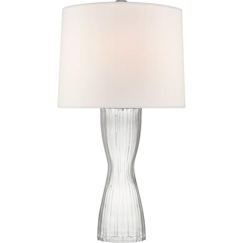 Barbara Barry Seine 34 inch 100 watt Clear Glass Table Lamp Portable Light, Medium