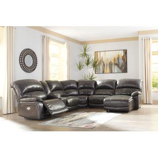 Hallstrung - Gray 6 Piece Reclining Sectional