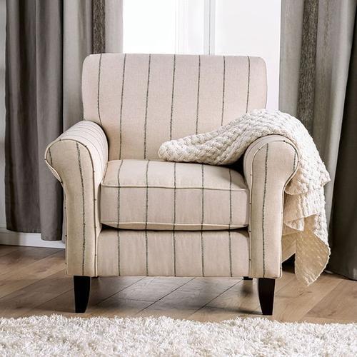 Furniture of America - Striped Chair Begley