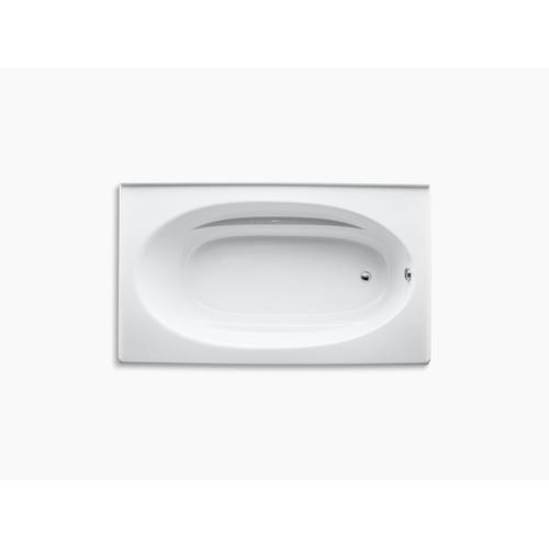 "White 72"" X 42"" Alcove Bath With Integral Apron and Right-hand Drain"