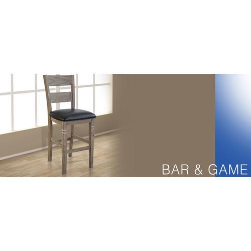 """30""""H Pinehurst Ladderback Barstool, Cushion Seat"""