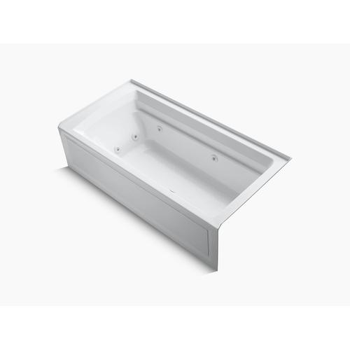 "White 72"" X 36"" Alcove Whirlpool With Integral Apron and Right-hand Drain"