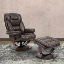 MONARCH - ROBUST Manual Reclining Swivel Chair and Ottoman