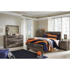 Derekson 4 Pc  Full Bedroom Set Multi Gray
