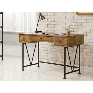 Barritt Industrial Antique Nutmeg Writing Desk